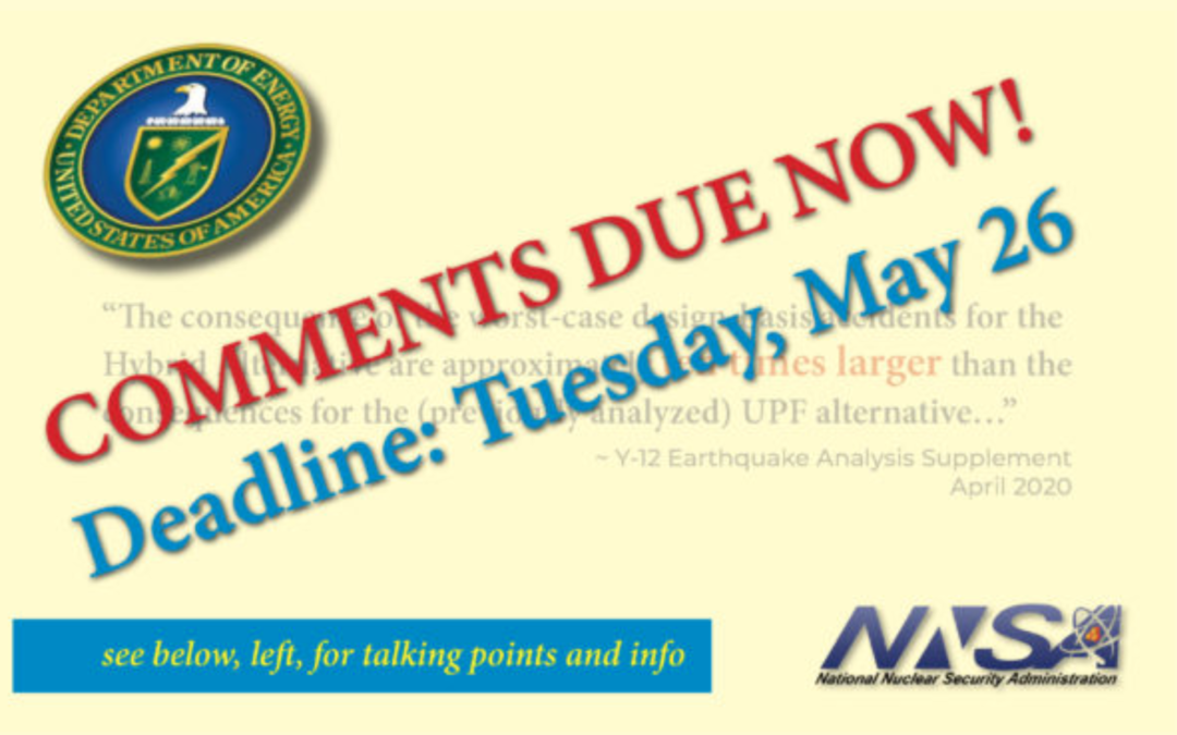"OAK RIDGE ENVIRONMENTAL PEACE ALLIANCE: NNSA Earthquake Analysis ""Inadequate"""